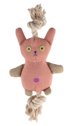 Image Simply Fido Pink Bunny Canvas Dog Toy
