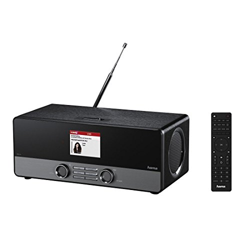 Internetradio Digitalradio DIR3100 (WLAN / LAN / DAB+ / DAB / FM, Farbdisplay 2,8 Zoll, Fernbedienung, USB-Anschluss, Weck- und Wifi-Streamingfunktion, gratis Radio App), schwarz