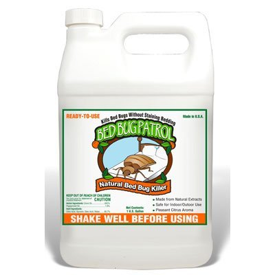 Bed Bug Patrol Bed Bug Killer 1 Gallon, 100% Environmentally Friendly, Family & Pet Safe Bed Bug Killer Formula. Guaranteed.