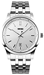 Skmei HMWA05S086C0 Analog White Dial Mens Watch