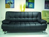 Hot Sale One New Contemporary Caresoft Futon Sofa Bed #3510, Black