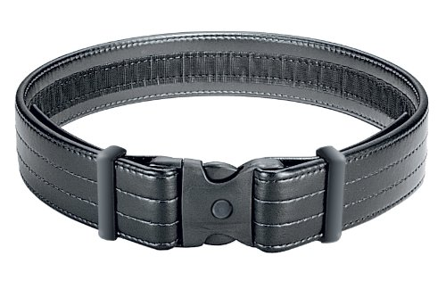 Uncle Mike's Law Enforcement Mirage Plain Ultra Duty Belts (Large, Black)