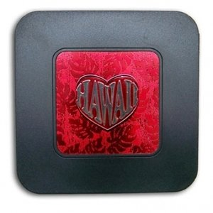Amazon.com: Hawaiian Style Coasters Red Monstera Heart: Kitchen ...