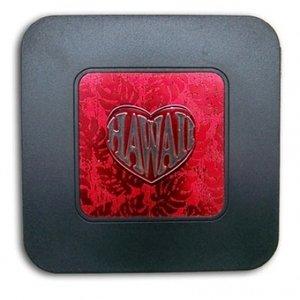 Amazon.com: Hawaiian Style Coasters Red Monstera Heart: Kitchen ...