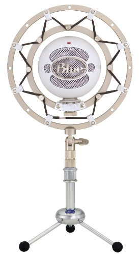 Blue Microphones Snowball Multi-Pattern Usb Microphone (White) With Ringer Universal Shockmount