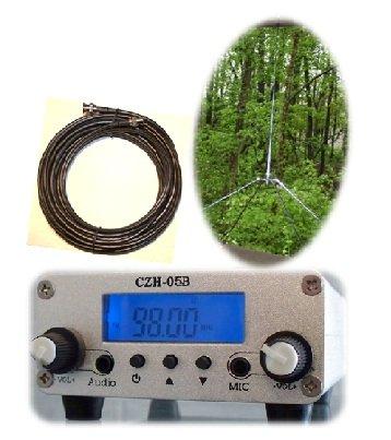 Bundle Deal: Fail-Safe 0.5 W Long Range FM Transmitter + 1/4 Wave GP Antenna Kit ($200 Value)
