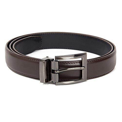 Brand Q Mens Plain Belt one Dark Brown