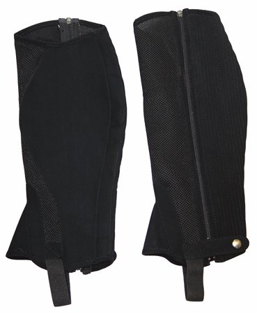 TuffRider Airflow Synthetic Half Chaps M Black
