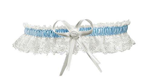 Braut-Hochzeits-Strumpfband-elastisch-Stretch-Spitze-mit-Schleife