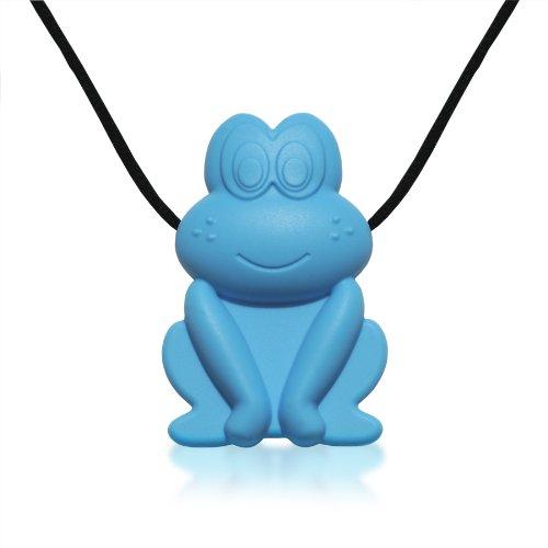Siliconies Froggy Pendant - Silicone Necklace (Teething/Nursing/Sensory) (Blue)