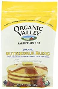 Organic Valley Organic Buttermilk Blend, Powder Cultured, 12-Ounce Bags (Pack of 4)