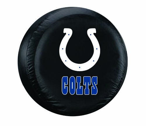 NFL Indianapolis Colts Tire Cover, Black, Large (Colts Tire Cover compare prices)