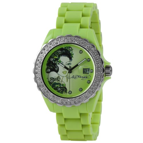 Ed Hardy Women's RX-LG Roxxy Light Green Watch