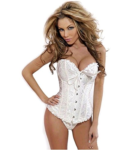 bronzo-timeswomens-sexy-pizzo-slimming-body-shaper-corsetto-bustino-top-white-l