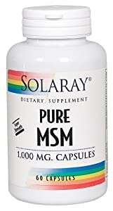 Solaray - Pure Msm Super Strength, 1000 mg, 60 capsules