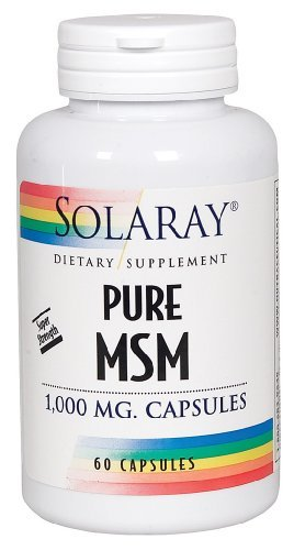 Solaray - Pure Msm Super Strength, 1000 Mg, 60 Capsules