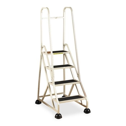 Cramer Dual Rail Four-step Aluminum Ladder-4-Step Ladder, w/ 2 Handrails, 24-5/8