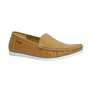 Marco Ferro Men 1496 Tan Synthetic Loafers