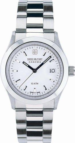 SWISS MILITARY (スイスミリタリー) 腕時計 ML/99 エレガント 白文字盤 メタルブレスレット メンズ