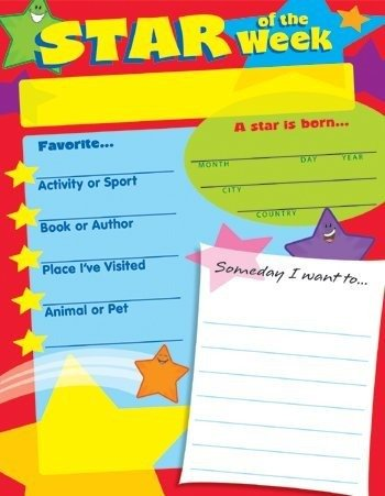 Star of the Week Learning Chart