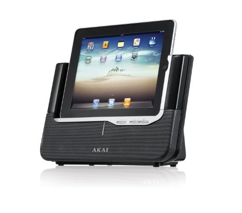 Akai ASB-8i Docking station cassa altoparlante stereo universale (2 x 28 Watt uscita video, AUX, surround)