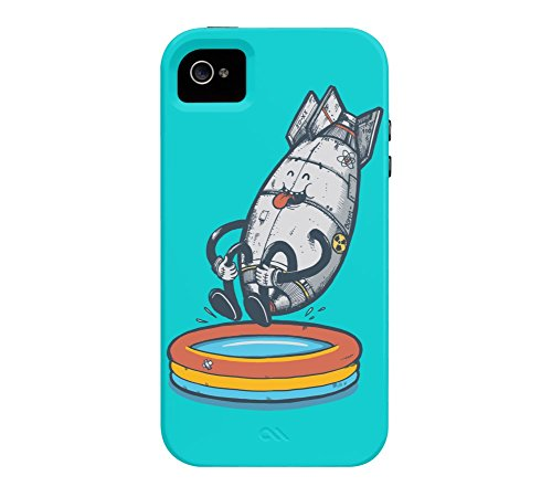 Pool Bomb iPhone 4/4s Dark turquoise Tough Phone Case - Design By Humans