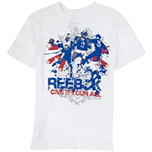 Reebok  Boys 8-20 Give It Your All Graphic Tee,White,X-Large (18/20)