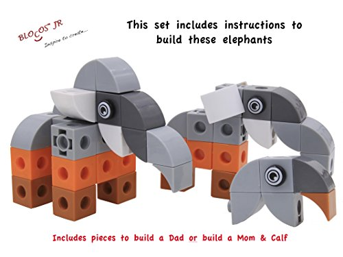Blocos Jr Safari Collection's Elephant Family