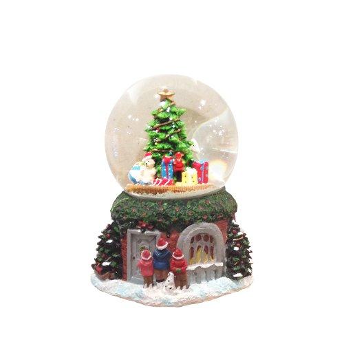 Kurt Adler Led Musical Christmas Tree Waterglobe, 100Mm