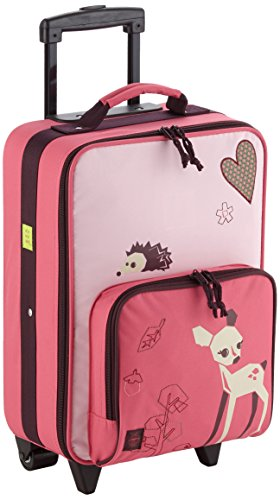 Lassig Sturdy Childrens Trolley Rolling Suitcase, Little Tree Fawn