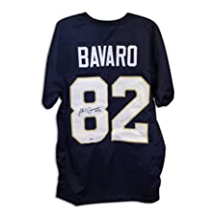 Mark Bavaro Signed Jersey - Navy Blue Throwback - Autographed College Jerseys