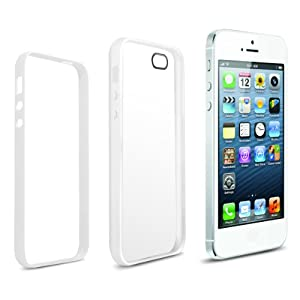 Anker® iPhone 5S 5 Case Ultra Slim Fit 0.9mm with 2-in-1 Combo Protection of most Durable Case for Apple iPhone 5 5S - Flexible Matte TPU Body + Protective PC Frame - White