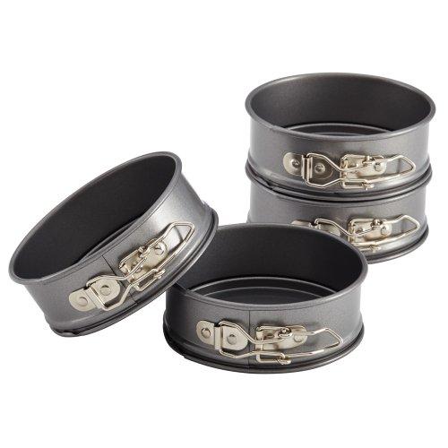 Anolon Advanced Nonstick Bakeware 4-Piece Set of Mini Springform Pans, Gray