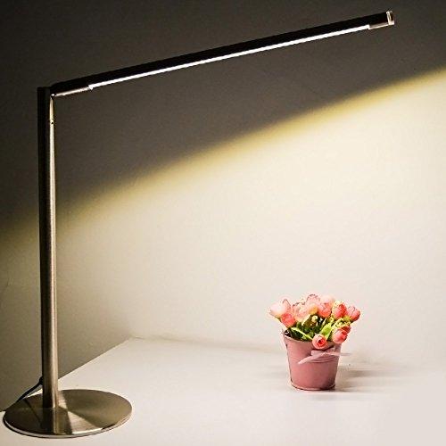 Joyin-5-Watt-Stufelos-Dimmbar-Metall-Led-Tischlampen-mit-Touch-Schalter-AusVernickelt-StahlHorizontal-360-Grad-Drehbar-Vertikal-90-Grad-Einstellbar-Winkel-Einstellbar-Augenschutz-Lichtquelle-390-Lumen