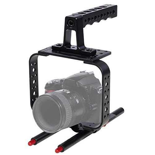 Photo Studio DSLR Video Stabilizer Camera Cage w/ Handle Gri