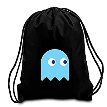 Amazon.com: Black Pacman Ghost drawstring school/PE/Gym