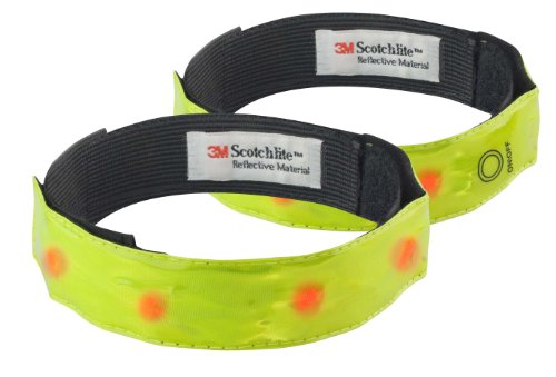 time-to-run-high-visibility-armband-with-led-pack-of-two