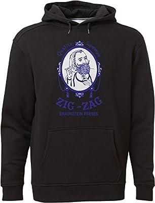 BSW Men's Zig Zag Rolling Smoke Burn Papers Premium Hoodie