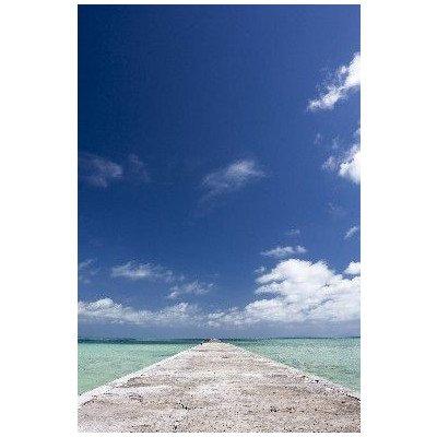 ポストカード「沖縄県八重山郡黒島の青い海と空に続く道」photo by 宮西範直-えはがき絵葉書postcard-