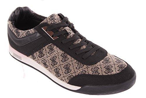 GUESS Homme Chaussures À Lacets Baskets Noir