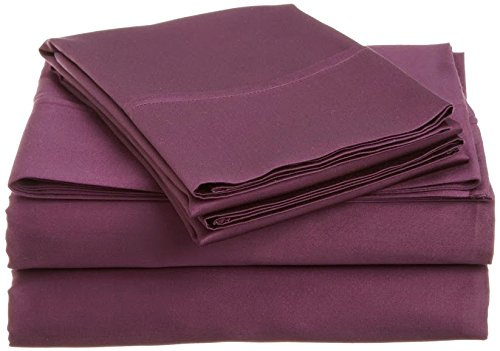 Srp Linen 400-Thread-Count Super Soft Zipper Closure Designer 3-Piece Luxury Duvet Cover Set California King/ Western King Solid Violet front-1042073