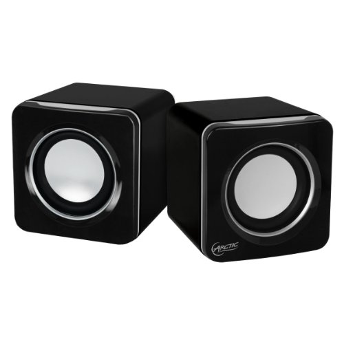 Arctic S111 Usb-Powered Portable Stereo Speakers For Tablet/Ereader/Mp3/Computers, Balanced Treble/Superior Bass - Black