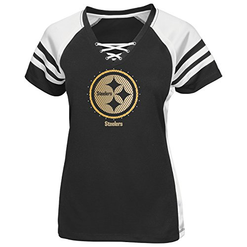6e07c321b Pittsburgh Steelers Women s Majestic NFL Draft Me VII Jersey Top Shirt -  Black from SteelerMania