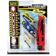 Exclusive Shock Racer Auto Moto Multi Pack - Yellow/Blue - 1