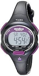 Timex Women's T5K5239J Sport Ironman Black and Purple Mid-Size 10-Lap Watch