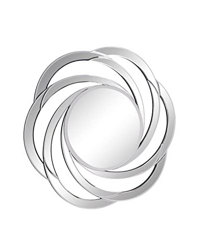 Modern Swirl Mirror, Clear
