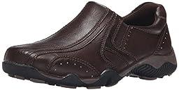 Detour Jimmy Recess Slip-On Casual Shoe (Little Kid/Big Kid), Brown, 4 M US Big Kid