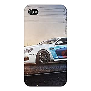 Jugaaduu Super Car BMW Back Cover Case For Apple iPhone 4