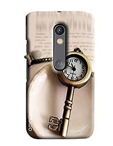 Omnam Clock Key Pattern Printed Designer Back Cover Case For Moto X Play