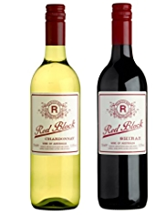 Red Block Australian Chardonnay & Shiraz Duo - Case of 6
